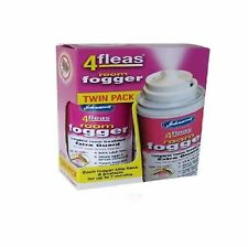 JOHNSONS 4 FLEAS TWIN PACK FLEA FOGGER KILLER BOMB - 2 CANS HOUSEHOLD FOG SPRAY