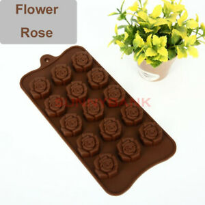Rose Silicone Chocolate Cake Decor Moulds Ice Tray Candy Cookie Baking