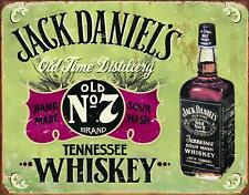 "Desperate Enterprises Jack Daniels Whiskey - Hand Made Tin Sign 16"" W X 12.5"" H"