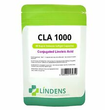 CLA Conjugated Linoleic Acid 1000mg x 90 Capsules Lindens Apothecary