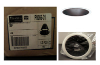 """Lot of 12 Commercial Electric Recessed Can Light Black Baffle / White Trim 6"""""""