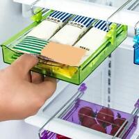 Kitchen Freezer Fridge Drawer Storage Box Rack Holder Slide Organizer Shelf Y4W5