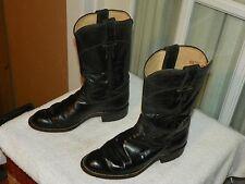 Justin Women's Black Kipskin Roper Cowboy Boots Size 4 B Style L3703 USA