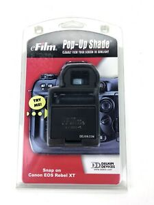 Delkin Devices Snap-On Pop-Up Shade for Canon EOS Rebel XT- New!