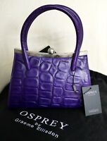 Osprey purple croc leather grab bag brand new with tags RRP £225