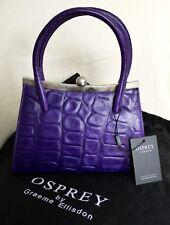 Osprey púrpura Cocodrilo Cuero Grab Bag Nuevo con Etiquetas Rrp £ 225