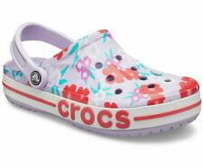 Women's Crocs BAYABAND Printed Clog Lavender/Poppy Sandals, Style # 205840-5PF