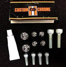 Custom Chrome/Chrome Specialties Chrome Skull Sissy Bar Upright Bolt Cover Kit