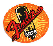 Genuine Fender Amp Tube Guitar/Bass Iron-On Jacket/Hat Patch 910-0004-021