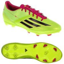 New Boy's Adidas F10 TRX FG J Soccer Cleats Lime Green Fuchsia Black Sz 5 Sweet