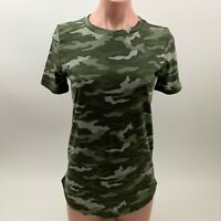 Victoria's Secret PINK Camo Short Sleeve Crew Neck T-Shirt - Green - XS - NWT