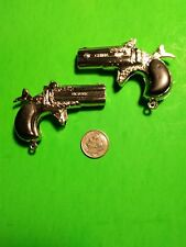 lot of 2, Pair vintage dueling Victory Mini Cap gun  POKER PLAYER Derringer toy