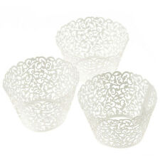 100 Filigree Little Cup Vine Lace Laser Cut Cupcake Wrapper Liner Baking Cup