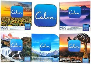 CALM 300 Piece Jigsaw Puzzle Relaxation Stress Relief Mood Choose Design or Set