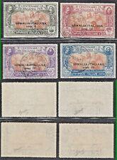 COLONIE SOMALIA 1923 PROPAGANDA FIDE S.10 4v  USATI FIRMATI