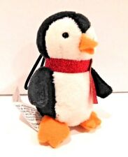 "BATH & BODY WORKS STUFFED PENGUIN WITH RED SCARF CHRISTMAS ORNAMENT 4""X 2.5"""