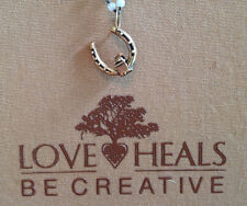 Love Heals Be Creative Yellow Bronze Horse Shoe Charm w/ side ring NEW Ret $25