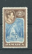 Jamaica KGVI 1938-52 2s blue & chocolate SG131 CW15a (brown) LMM
