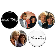 5x Modern Talking Pop Dance Synth Band Duo 25mm / 1 Inch D Pin Button Badges