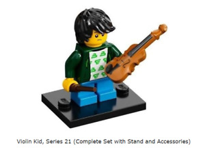 Lego Violin Kid, Series 21 (Complete Set with Stand and Accessories)