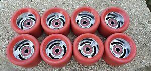 Red Radar Devil Rays Roller Skate Wheels quad speed jam skate wheels RARE