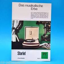 Starlet Phonokoffer DDR 1968   Prospekt Werbung Werbeblatt DEWAG P7 B