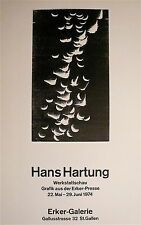 Hartung Hans Affiche originale gravure sur bois 1974 art abstrait abstraction