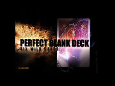 Perfect Blank Deck with Dvd Magic Trick Bicycle Cards Close Up Street Parlor T11
