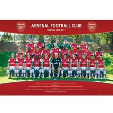 Arsenal Gunners FC 2012 - 2013 Squad Poster English Premier League new Soccer