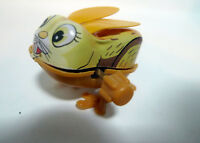 Vintage Japan Yone Mechanical Tin Wind Up Jumping Tin Rabbit with Ears Toy