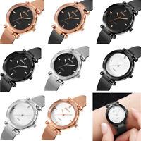 Classic Womens Ladies Stainless Mesh Band Watch Analog Quartz Luxury Wrist Watch