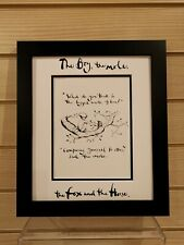 Charlie Mackesy book extract framed. The boy, the mole,the fox and the horse 16