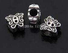 NOUVEAU 1 X Tibetan Silver Butterfly Charm Bead Fits Bracelet fr10