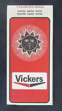 1970 Central  road map Vickers oil gas oil can