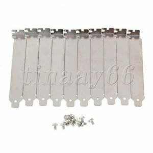 10x Computer Case Rear Slot PCI Bracket Blank Filler Cover Plate with Screw