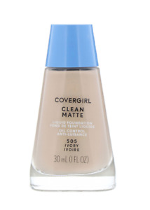 Covergirl Clean Matte Liquid Foundation 505 Ivory 1 oz for oily sensitive skin