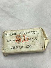 Vintage Winsor Newton Watercolour Artists Paint Block Vermilion for Box Painting
