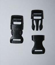 2 x 10mm Black Plastic Side Release Buckle