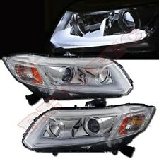 R8 Style Projector Headlights For 12-13 Honda Civic Coupe Sedan 2Dr 4Dr