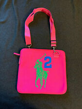 Ralph Lauren Laptop Bag Neoprene The Big Pony Collection Polo Hot Pink 2