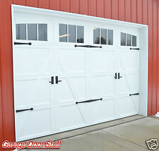 GARAGE DOOR DECORATIVE HARDWARE HEAVY IRON -HINGES & HANDLES