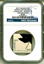 2017 S$3 Canada Maple Leaf Quartet Lower Left Reverse PF First Release NGC PF70