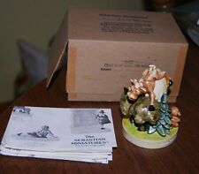 Sebastian Miniatures Cow Jumps Over the Moon in box