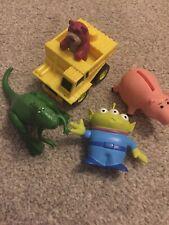 Bundle Of Toy Story Figures Ham Lotzo In Truck Rex & Green Alien.