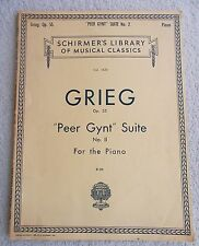 Grieg Peer Gynt Suite No. 2 Opus 55 Piano Solo Unmarked