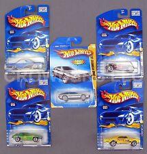 Hot Wheels 5 Car Lot Hippie Mobiles Series Corvette GTO Old #3 DeLorean DMC-12
