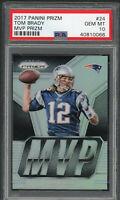 Tom Brady New England Patriots 2017 Panini Prizm MVP Football Card #24 PSA 10