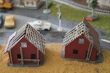 FALLER HO houses in construction, maisons en construction, huizen in opbouw