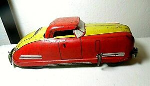"VNTG 1940'S WYANDOTTE PRESSED STEEL WIND UP HARDTOP CONVERTIBLE  12 3/4"" WORKS"