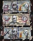 """""""No Idols"""" outsider money print signed by artist Gus Fink"""